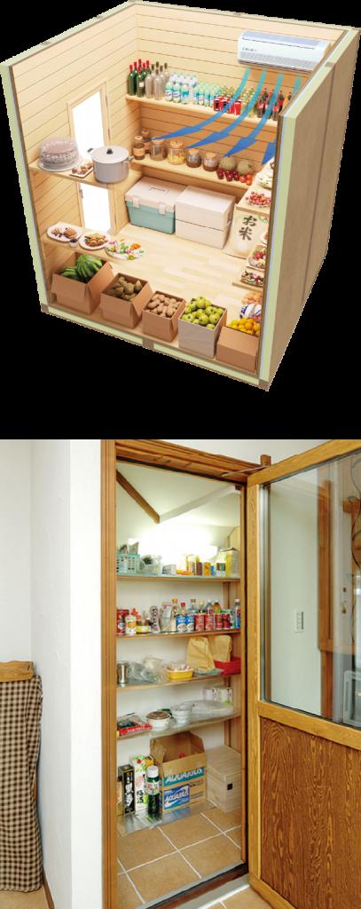 住宅用保冷室